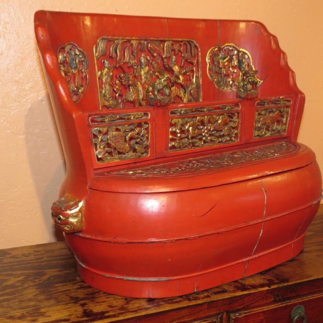 Antique Chinese Bridal Box