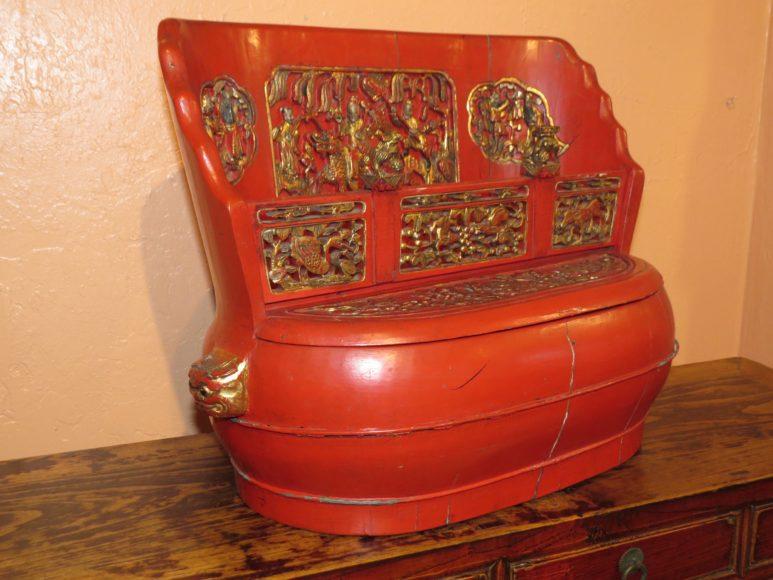 Antique Chinese Bridal Box