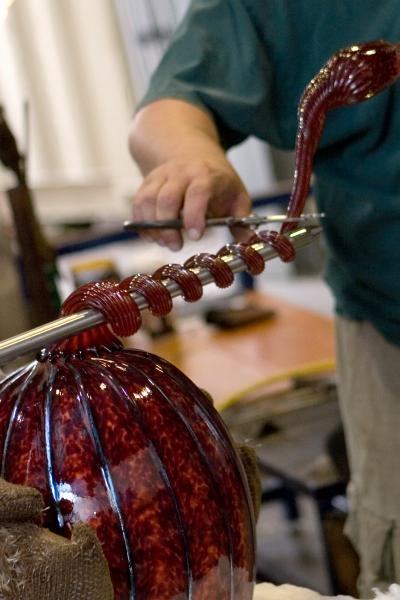 Gathering Glass Studio, Blowing Glass