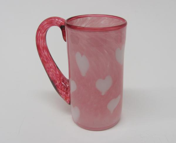 Gathering Glass Studio, Love Mug, Blown Glass