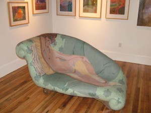"""Karen Rycheck, """"EVE"""" mosaic tile sculpture"""