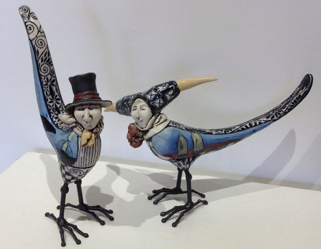 Top Hat and Jester Birds by R & J Gumaelius