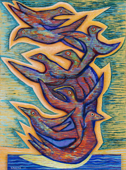 Betty LaDuke,Catch the Joy, 2018