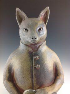 Penelope Dews, Kitsune, ceramic