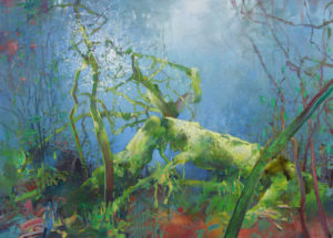 Randall David Tipton, Rainforest Windfall, oil on canvas, 36x50