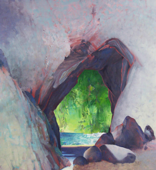 Randall David Tipton, Window, oil on panel, 26x24