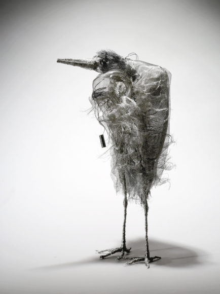 Marly Eidsness, The Thinker, wire mesh