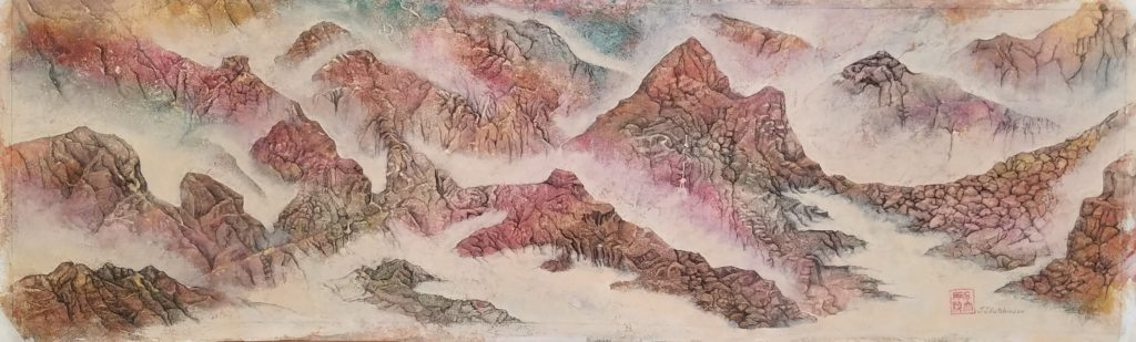 James Hutchinson, Eccentric Wilderness 3, mixed media on paper