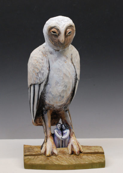 Stan Peterson, Under the Owl, carved wood