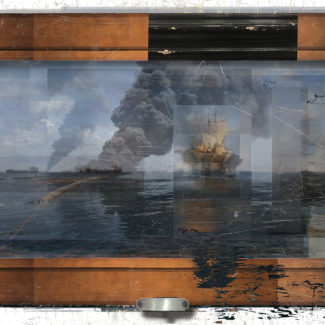 Deborah Oropallo, Video Frame: Pirates, Paris, photomontage on paper