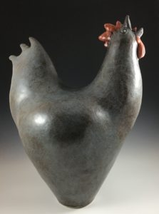 Penelope Dews, Rooster, ceramic