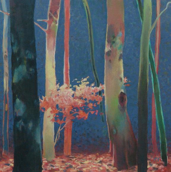 Randall David Tipton, Theater of Trees, oil on panel, 12x12