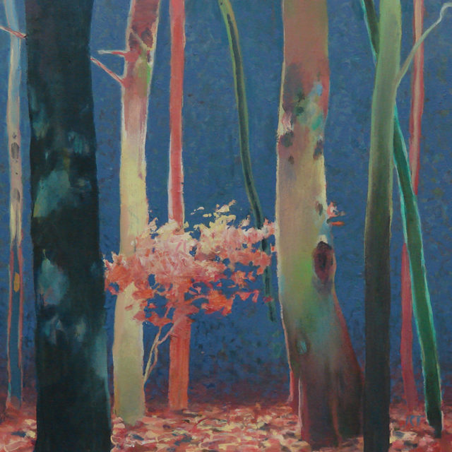 Randall David Tipton, Theater of Trees, oil on panel, 12x12