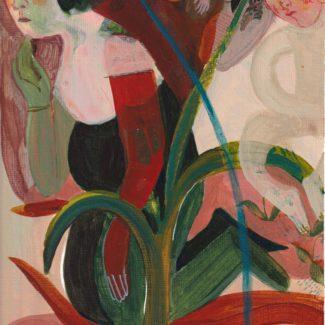 Stacey Dressen McQueen, acrylic on paper