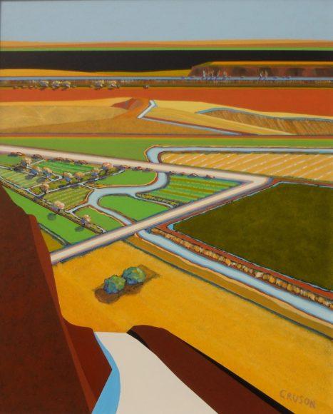 Jon Jay Cruson Overview #18 Acrylic on canvas