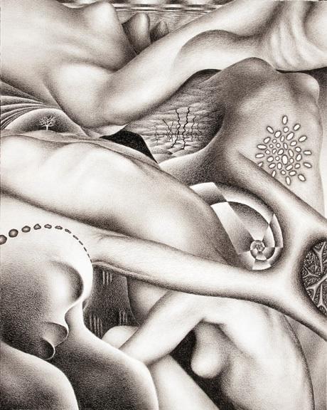 Artist: Michah Ofstedahl; Title: Green Valley; Medium: Charcoal
