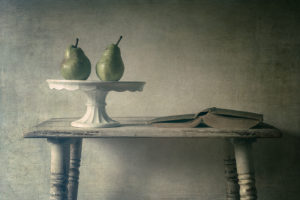 Two Pears & Book