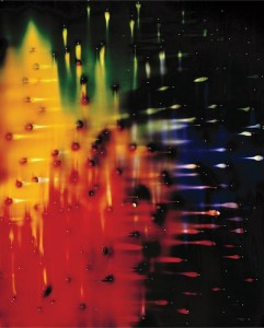 Ellen Carey, PucsPins, 2002, Chromogenic photogram (with holes)