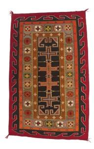 Teec Nos Pos Rug, circa 1915-1920, dyed wool