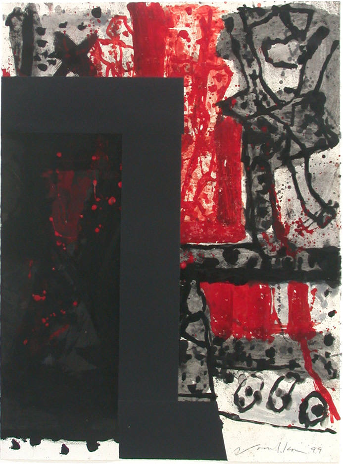 Peter Voulkos, Untitled (Cr 320-Pr) monotype, 1999