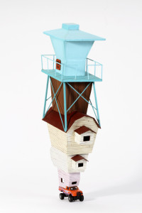 Gina Tuzzi, On the Beach (1974), 2009, Mixed media, 16 x 4 x 6""