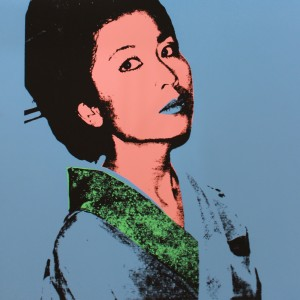 Andy Warhol, Kimiko Powers, 1981, Original screenprint on Lenox Museum Board. Extra, out of the edition. Designated for research and educational purposes only. © The Andy Warhol Foundation for the Visual Arts, Inc.