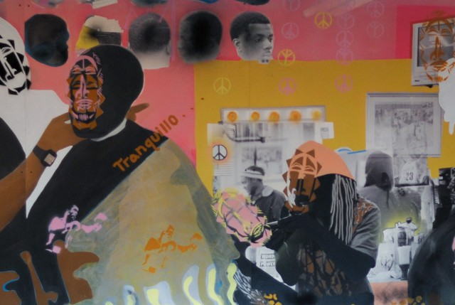 Modou Dieng & Devon A. VanHouten-Maldonado, Tranquillo, 2014, Mixed media, partial view