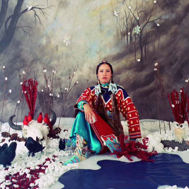 "Wendy Red Star, ""Winter"", from ""The Four Seasons"", Archival pigment print on Museo silver rag, 35.5 X 40 inches, Courtesy of the Jordan Schnitzer Museum of Art, Eugene, OR"
