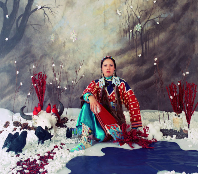 """Wendy Red Star, """"Winter"""", from """"The Four Seasons"""", Archival pigment print on Museo silver rag, 35.5 X 40 inches, Courtesy of the Jordan Schnitzer Museum of Art, Eugene, OR"""