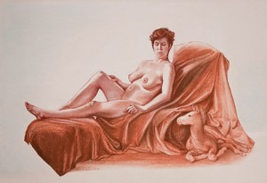 Duex Fille, pastel by Ann DiSalvo